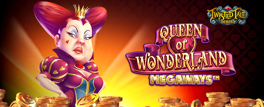 We all know about Alice, but the one with the fortune was the Queen of Wonderland. This 6- reel slot lets you venture into the queen's wonderland to search for free spins, jackpots and bonus rounds. Available on mobile or desktop devices.