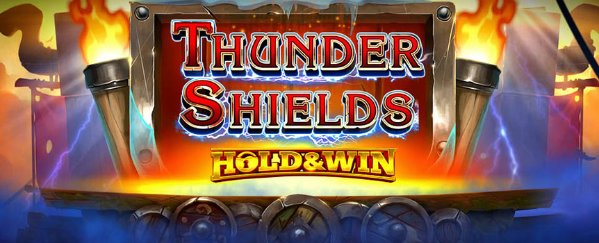 Thunder Shields is an exciting Viking pokie that will introduce you to these ferocious and fearless seafaring men. If you are brave enough to play this 4 Row, 5 Reel, 40 Payline pokie, then you will be accepted into their crew and could earn yourself some of their valuable bounty as well!