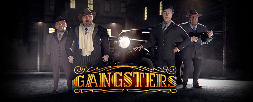 The moment you open this game the music and flashing lights will take you back to the mythic 1930s where Gangsters were the rulers and survival of the best armed was the order of the day. Among other symbols, you will be up close with a card playing gentleman, a liquor bottle and a cigar, playing cards, dices and poker chips, a bag full of money and of course plenty of weapons. Each of these symbols can grant you different wins depending on the number of symbols appearing on the reels.