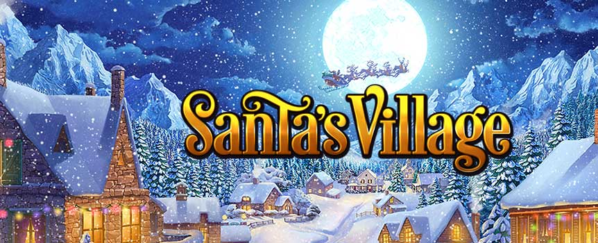 Become the spirit of Christmas by playing Santa's Village. Set in the north pole, you have to assist Santa as he prepares for the festive season. Laden with amazing bonus features you are sure to get hooked on this slot as you spin the reels for big wins. Santa's Village is a 5-reel, 3-row and 15 payline slot with a scatter, wild and a bonus round. So get ready for your gifts as you play this game for big wins.