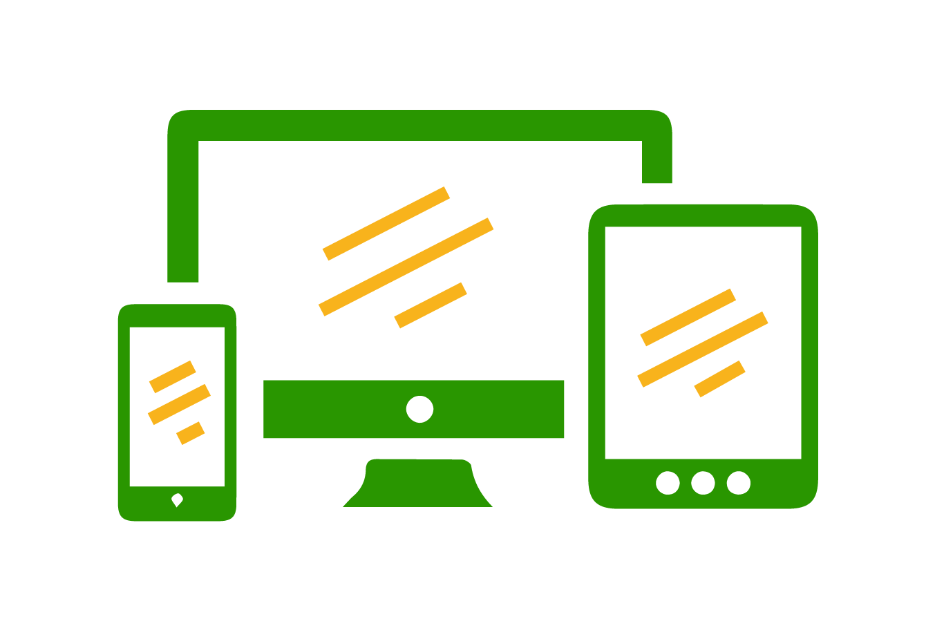 Responsive design across desktop, mobile, and tablet