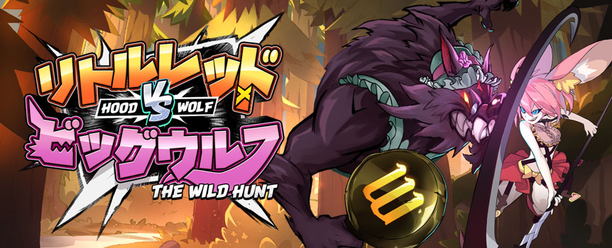 ROLEPLAY AND BATTLE IT OUT IN THIS TWO-DIMENSIONAL SPACE!  Role-play as either Red Riding Hood or Big Grey Wolf, start with a full health bar and launch attacks against the other. Win free spins and wild symbols in the bonus game mode!