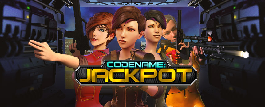 You're in for a defo good time with CodeName: Jackpot, a 5-reel slot game that'll have you suiting up for some espionage and plenty of big wins. The action's going off in this spy-themed slot because the queen's bloody diamond has gone missing and it's up to you to track it down. Join an elite band and find plenty of free spins, expanding and surprise wilds, a bonus round and heaps of jackpot wins on the lines.