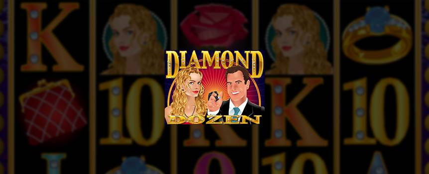 According to 007 diamonds are forever but in this little gem there are a dozen on offer in this Vegas-style slot. All the winning angles sparkle in this 5-reel, 20-line adventure. Keep your wits about you and a good jeweller handy as you hunt for blue and white diamond symbols. Blue diamond symbols add up to free games and more chances to strike gold. White diamonds are your best friend as they give you a chance to multiply your winnings. Get that winning twinkle in your eye in this fast paced slot. Don't be shy, give it a bash and get your bling on.