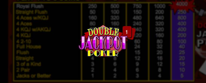 "Double Jackpot Poker is a game of draw poker. The player receives five cards from the dealer; the player then chooses which of the cards to keep or ""hold"". Then discards the remaining cards for new ones by pressing deal. The final hand is determined a winning hand if the player has a pair of Jacks or better."